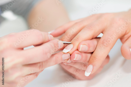 Manicuring hands