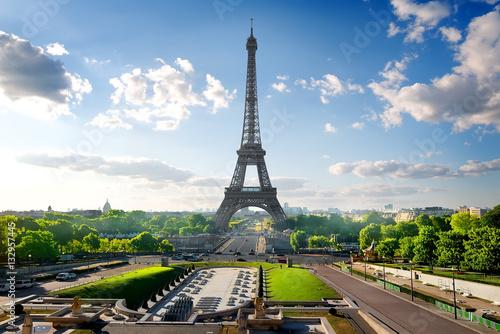 Poster Paris Eiffel Tower and Park