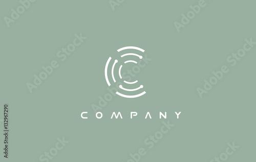 Alphabet letter C logo icon design