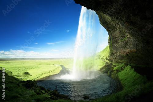 Keuken foto achterwand Watervallen Seljalandfoss waterfall in summer time, Iceland