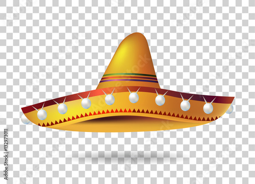 Fotografie, Obraz  Mexican Sombrero Hat. headwear. Mexico. Vector illustration
