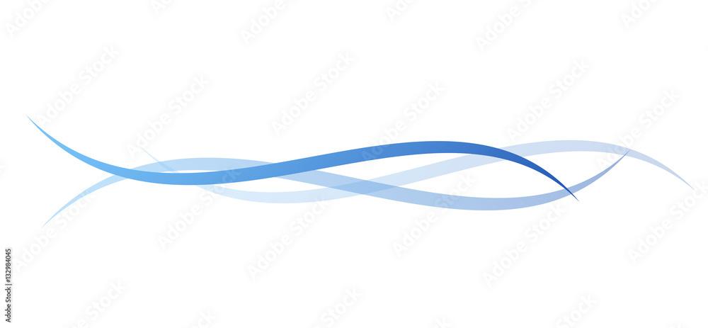 Fototapeta linee, linea, sfondo, vettoriale, onde - obraz na płótnie