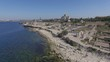 Aerial video of Chersonesos in Sevastopol, Fog bell and Vladimir Cathedral.