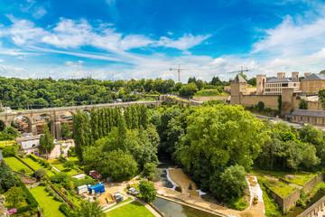 Fototapeta na wymiar Panoramic cityscape of Luxembourg