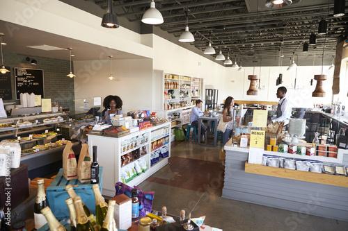 Fotografie, Obraz  Interior Of Busy Delicatessen With Customers