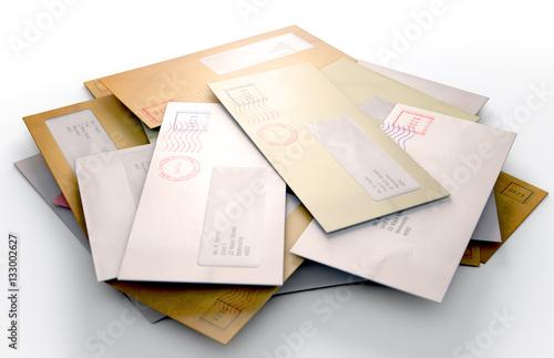 Fototapeta Mail Stack obraz