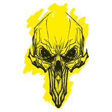 Alien Skul For Tatoo