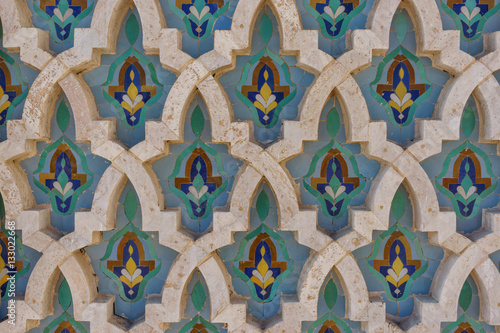 Pattern from Hassan II Mosque in Casablanca Morocco