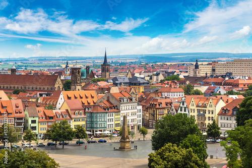 Foto auf Leinwand Europäische Regionen Panoramic view of Erfurt