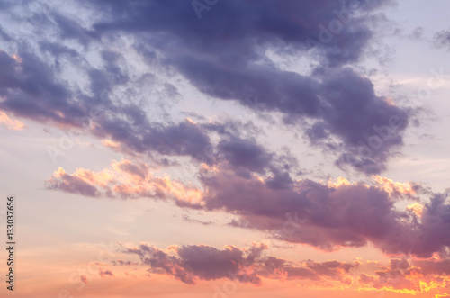 Fototapety, obrazy: Beautiful colorful of cloudscape in sunset