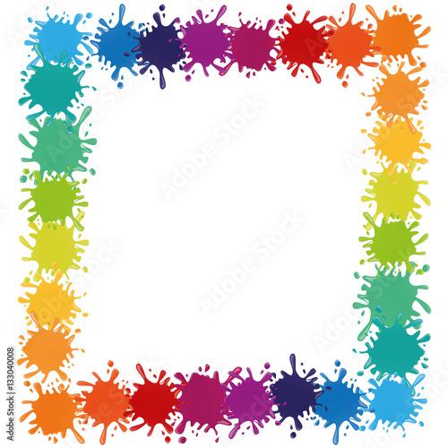 Tuinposter Vormen multi color paint splatter icon image vector illustration design