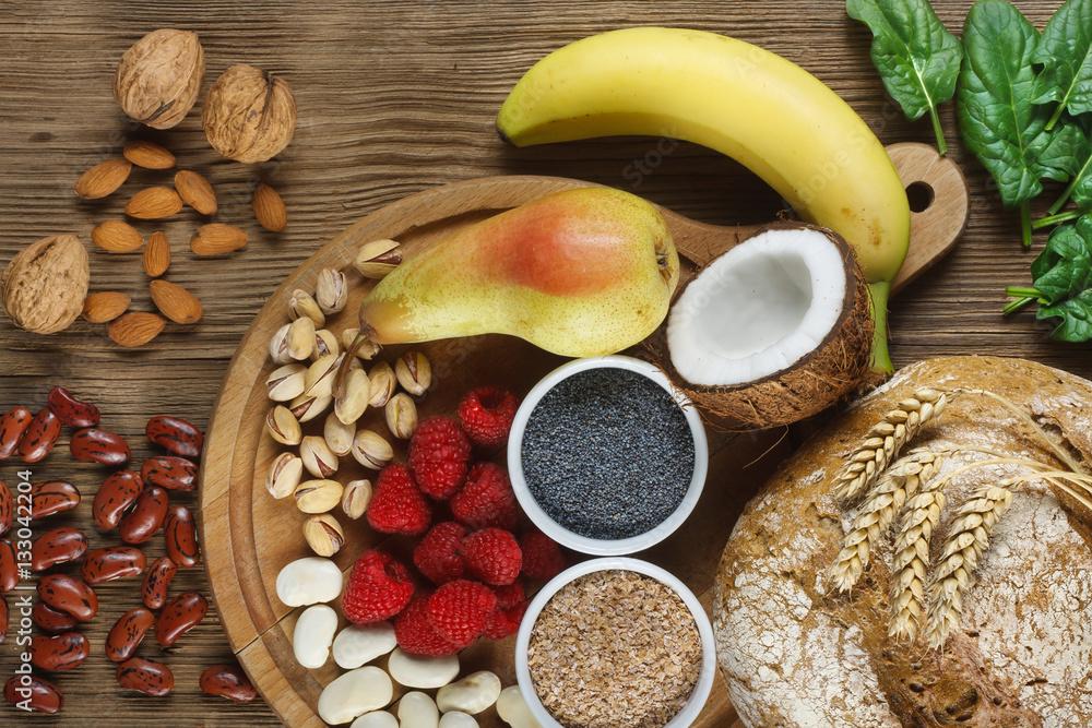 Fototapety, obrazy: Foods rich in fiber