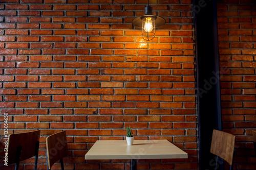 Obraz Cafe or Restaurant Decorate with Industrial loft style - fototapety do salonu