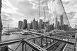 Skyline of Manhattan from Brooklyn Bridge, NYC