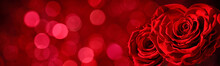Heart Shape Of Rose On Abstrac...