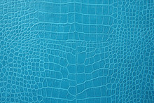 Blue Crocodile Leather Texture