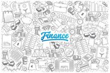 Hand Drawn Set Of Finance Dood...