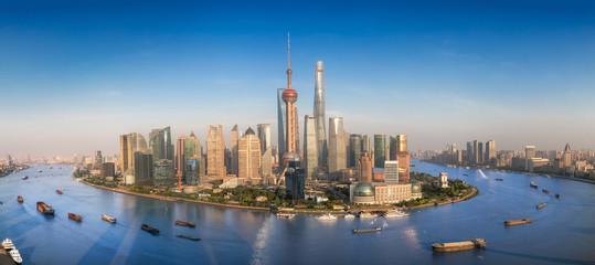 Shanghai skyline with modern urban skyscrapers