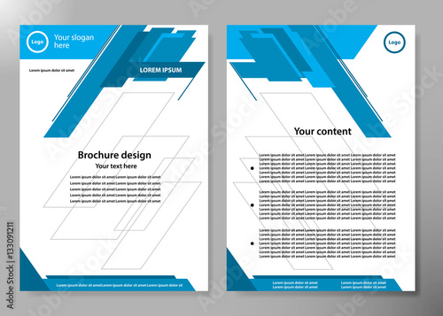 minimal flyers report business magazine poster layout template