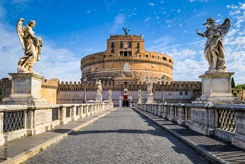 Photo sur Toile Europe Centrale Saint Angel Castle, Rome, Italy