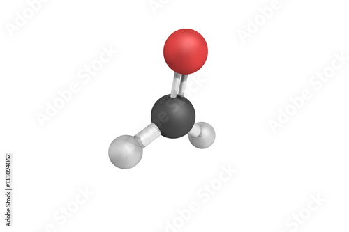 3d structure of Formaldehyde, a naturally occurring organic comp Wallpaper Mural