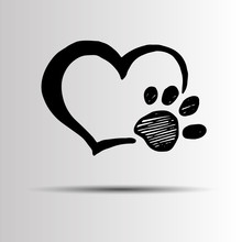 Dog Footprint Print Paw Foot S...