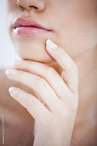 Photo sur Aluminium Manicure Sensual Mouth