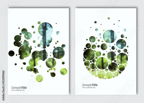 Flyer layout template. Vector brochure background with elements for magazine, cover, poster, layout design. A4 size. © archiwiz
