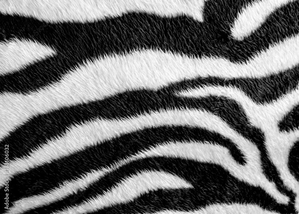 Fototapety, obrazy: Zebra skin pattern leatherette fabric