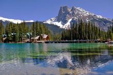 Springtime At Emerald Lake, Yoho National Park In British Columbia