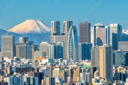 Canvas Prints Tokyo Tokyo skyline and Mountain fuji