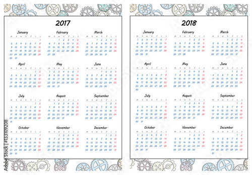 photo regarding Printable Gears referred to as Established of web pages template for everyday planner. Printable, for