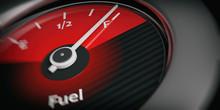 Car Indicator Fuel Full. 3d Illustration