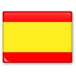 canvas print picture - Spanische Flagge - 3D Button