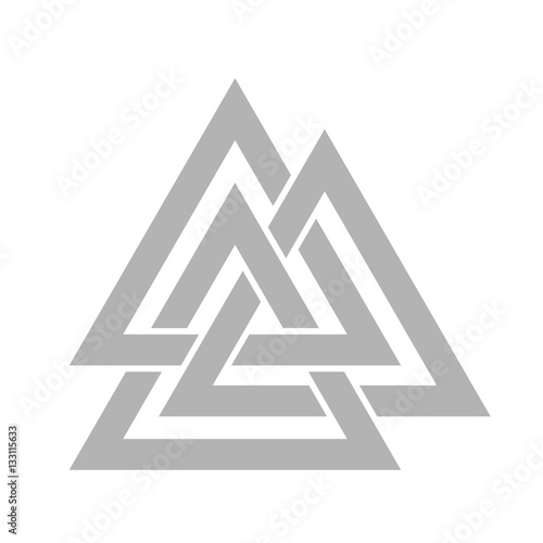 Photo  Valknut symbol vector