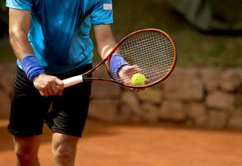 Fototapeta Tenis. Servicio