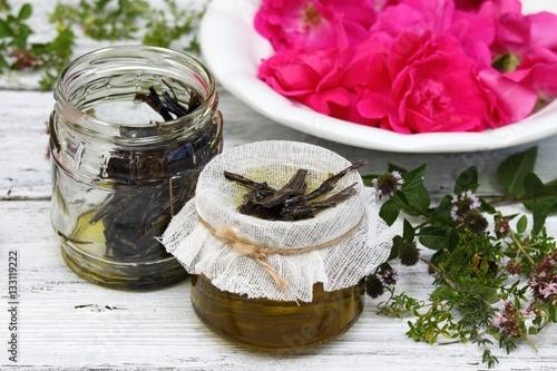 Fotografia, Obraz  Alternative medicine, remedy oil from curative herbs
