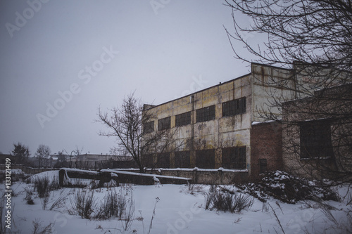 Abandoned Industrial Buildings - Buy this stock photo and