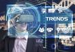 Leinwanddruck Bild - Business, Technology, Internet and network concept. Young busine