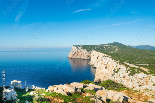 Poster Cote Capo Caccia rocky shoreline