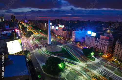 Photo sur Toile Buenos Aires Buenos Aires at Night