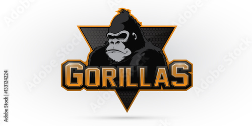 Photo  Gorilla logo for a sport team