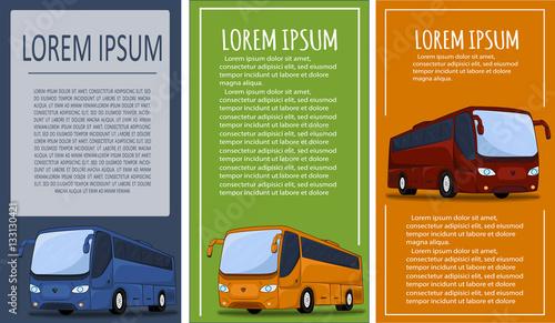 Tourist bus banner set