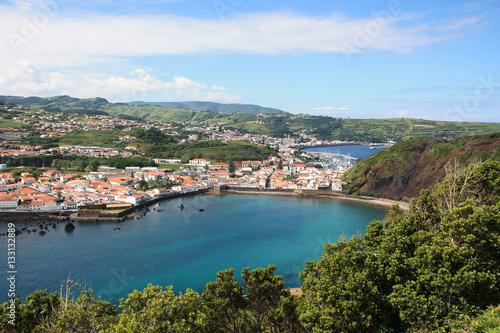 Garden Poster Nice Blick auf Horta, Faial ist die fünftgrößte Insel der portugiesischen Inselgruppe der Azoren.