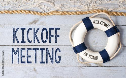 Slika na platnu Kickoff Meeting - Welcome on Board