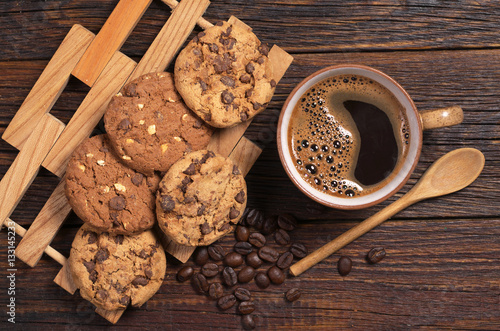 Poster Dessert Coffee and cookies