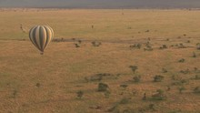 AERIAL: Safari Hot Air Balloon...