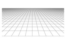 Checkered Floor With Square Tiles In Perspective