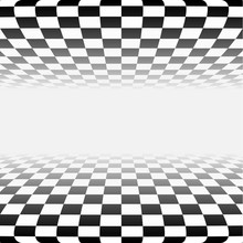 Abstract Checker Background In Perspective