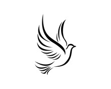 Bird Wing Dove Logo Template V...